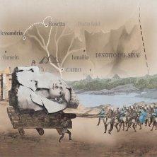 DrawLight_Proiezione animata del trasporto dei colossi di Memnone Belzoni