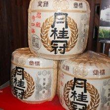 barili di sake al museo