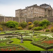 A view of the house above the Dutch Garden at Lyme Park, Cheshire