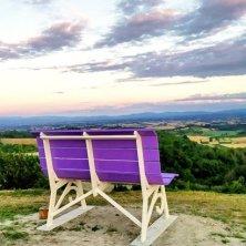 big bench lavanda a Cuccaro Monferrato