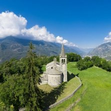 VALLE D_AOSTA-Chiesa Moron Saint-Vincent (foto Enrico Romanzi) Cammino Balteo