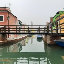 Burano case colorate e ponte