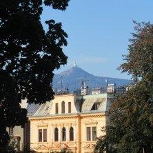 Jested visto dal parco di Liberec