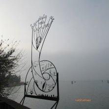a San Francesco nel deserto nella nebbia laguna di Venezia