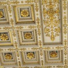 soffitto decorato e dorato a San Paolo