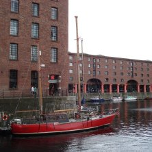 al porto di Liverpool