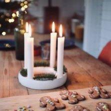 centrotavola con candele Natale in Danimarca
