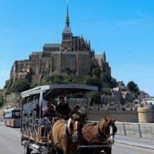 carrozza cavalli mont Saint Michel