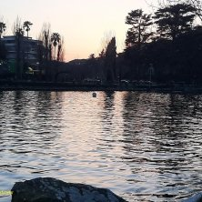 tramonto sull'acqua