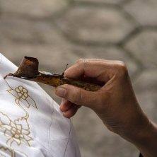 al lavoro sul batik