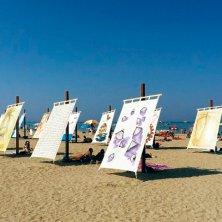 TENDE AL MARE sulla spiaggia di Cesenatico