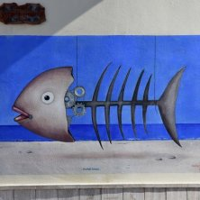 murales pesce a Diamante