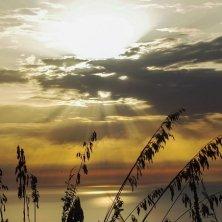 tramonto all'isola di Cirella