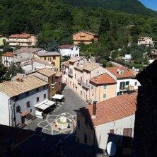 piazza del borgo dall'alto