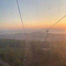 tramonto dalla funivia