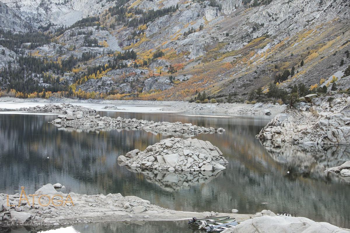 Low Water and Fading Fall Colors at Lake Sabrina