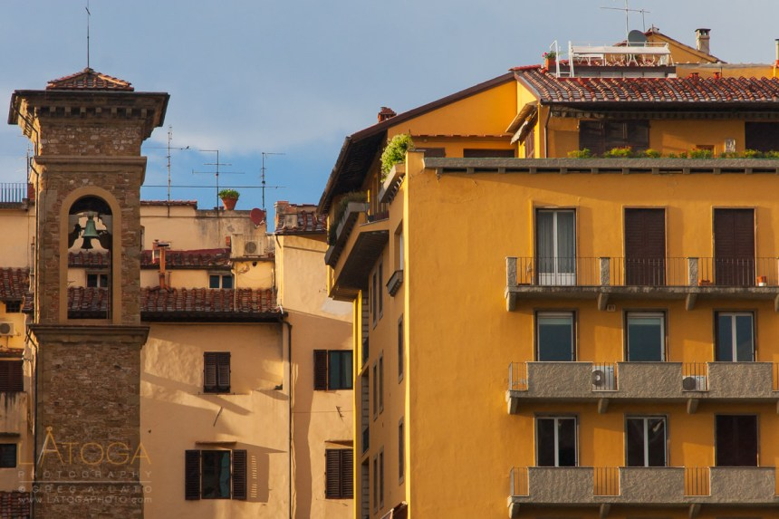 Belltower and Apartments in Florence, Italy