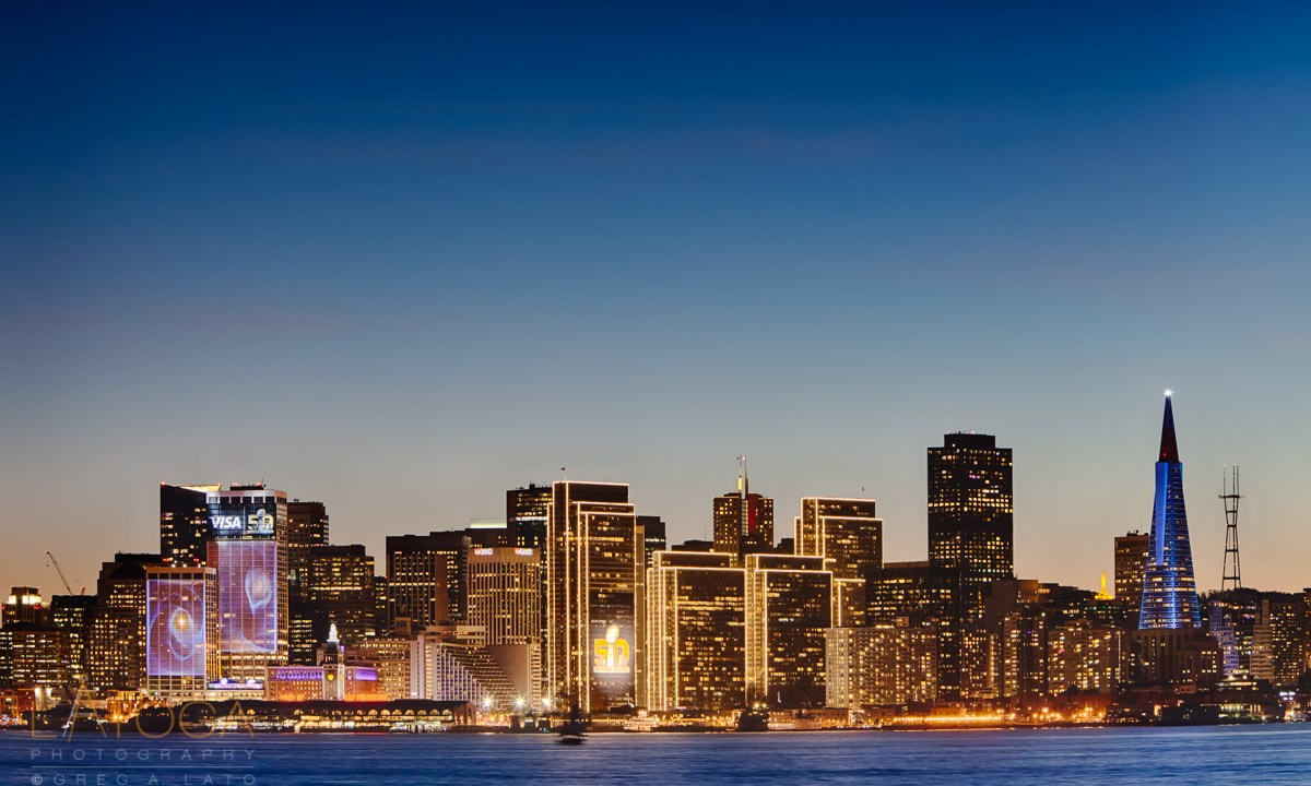 San Francisco Skyline on Eve of Super Bowl 50