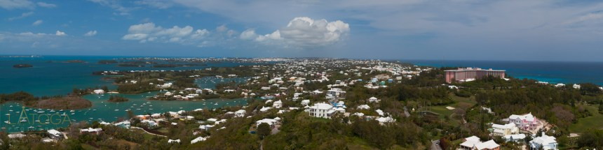 Panoramic View of Bermuda from Gibb's Hill Lighthouse