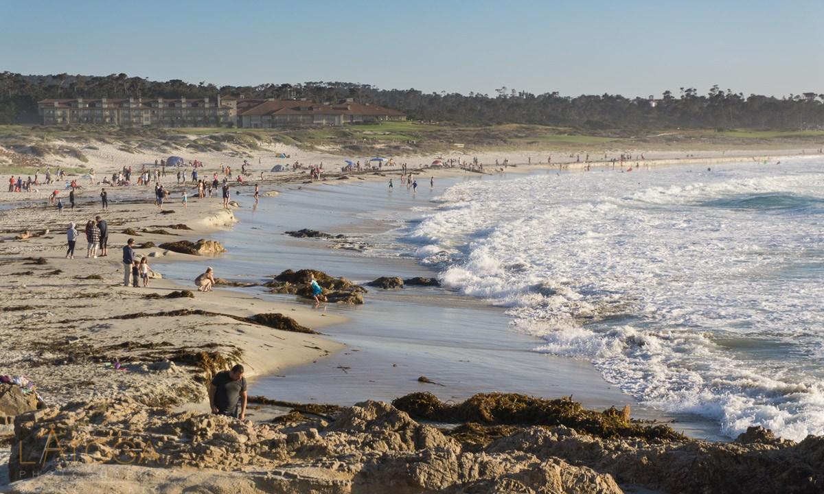 Weekend Beach Crowd at Ansilomar State Beach, Monterey County, California