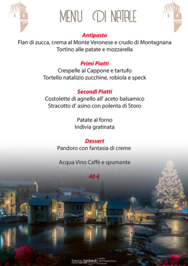 Menu Di Natale Verona.Menu Di Natale 2018 La Torre Pizzeria Ristorante Bar