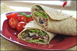 Italiano Tuna Salad Wraps La Tortilla Factory
