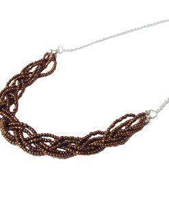 collier tresse plastron la touche finale bijoux fait main