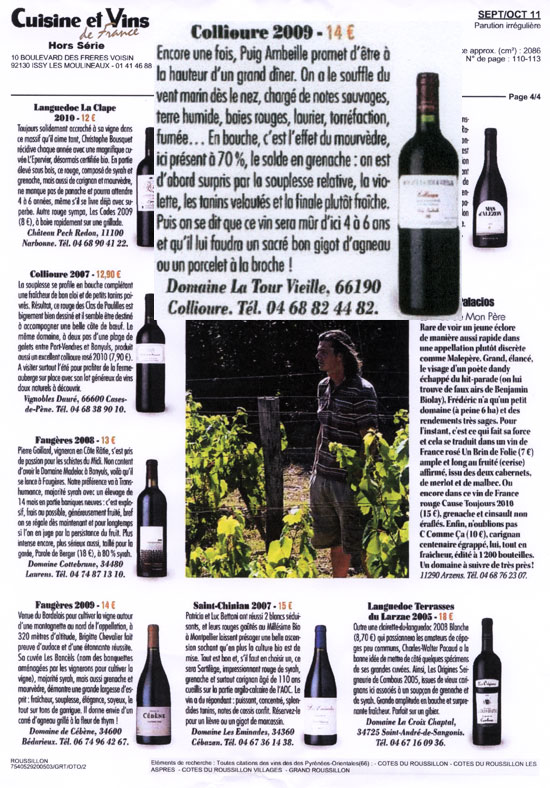 Hors Serie Cuisine Et Vins De France