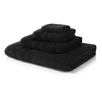 500 GSM Black Towel Bale 10 Piece - 4 Face Cloths, 2 Hand Towels, 2 Bath Towels, 2 Bath Sheets
