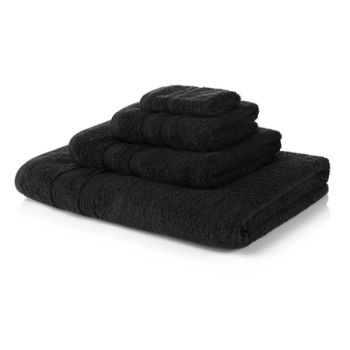 500 GSM Black Towel Bale 4 Piece – 2 Hand Towels, 2 Bath Towels