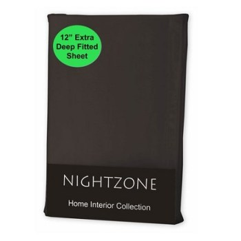 "12"" Deep Black Fitted Sheet (Value Range)"