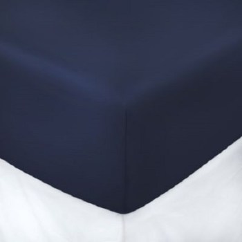 "12"" Deep Navy Blue Fitted Sheet (Value Range)"