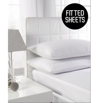 180 TC Extra Deep Percale Super King Size Fitted Sheets (Up To 16'')