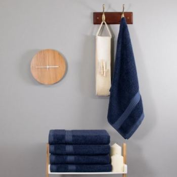 700 GSM Navy Blue Bamboo Hand Towel
