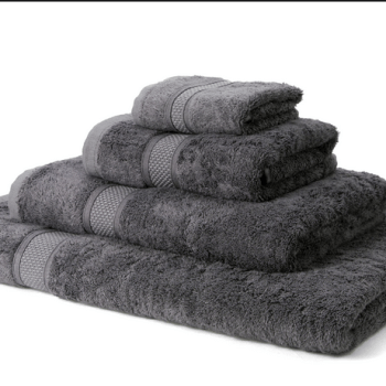 600 GSM Bamboo Bath Sheets Charcoal Grey