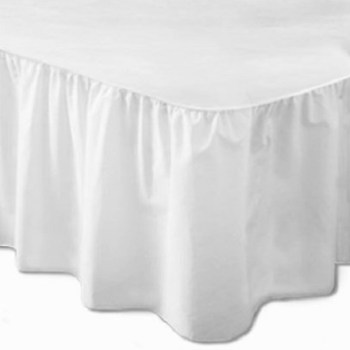 180 TC Easy Iron Percale Double Base Valance