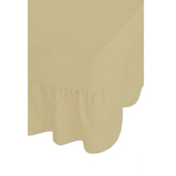 68 Pick Polycotton Cream Valance Sheets