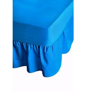 68 Pick Polycotton Light Blue Valance Sheets