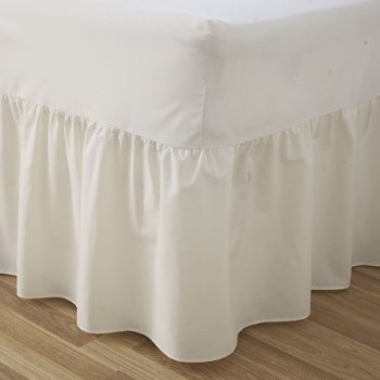 68 Pick Polycotton White Valance Sheets