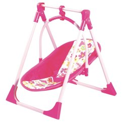 Baby Alive High Chair Resin Chaise Lounge With Slat Seat Adora 4 In 1 Playset Carrier Swing Doll For Dolls Up To 20 Inches
