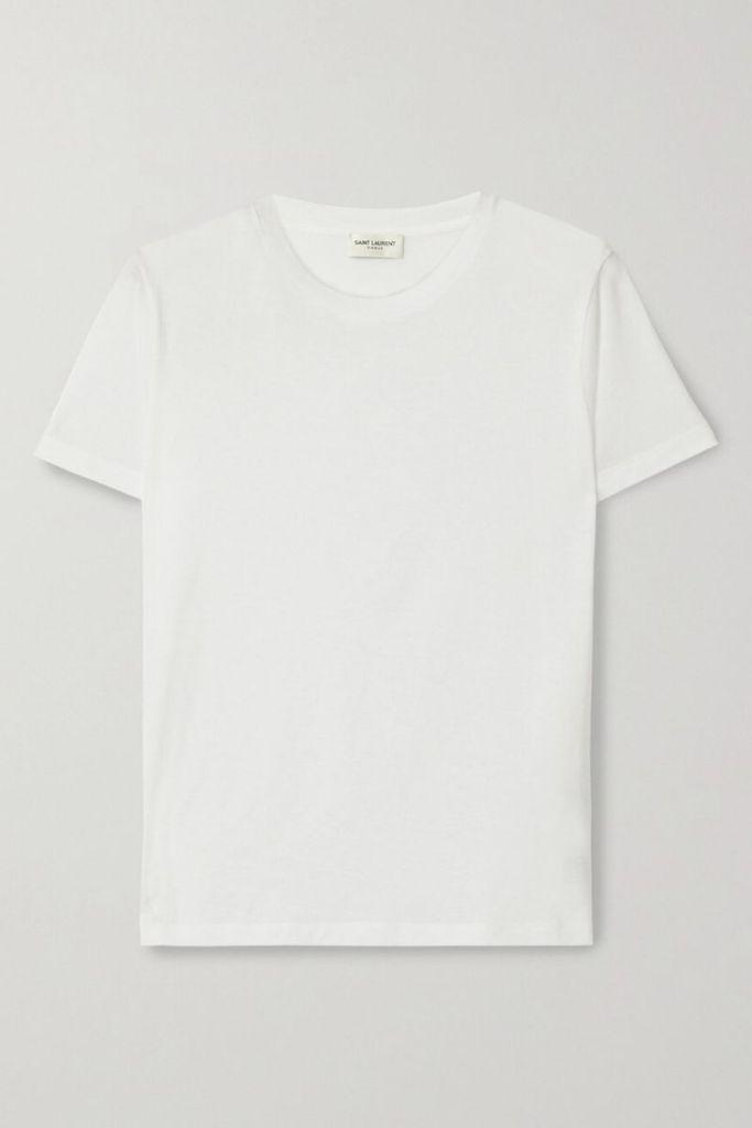 débito contra crédito camiseta saint laurent