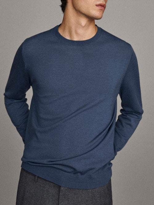 Jersey lana merino Massimo Dutti