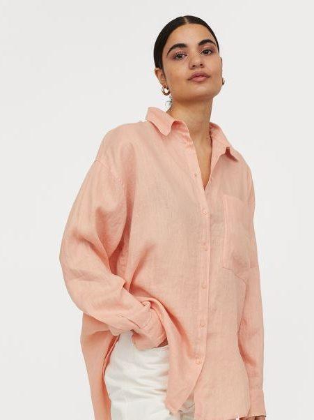 camisas de lino h&m