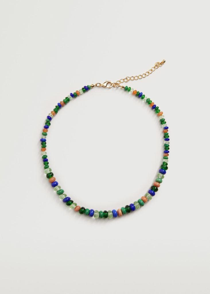Collar de abalorios de cristal de MANGO WOMAN