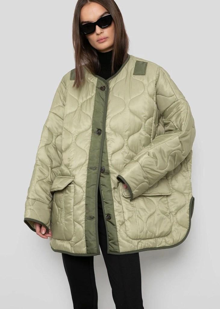 chaqueta acolchada oversized