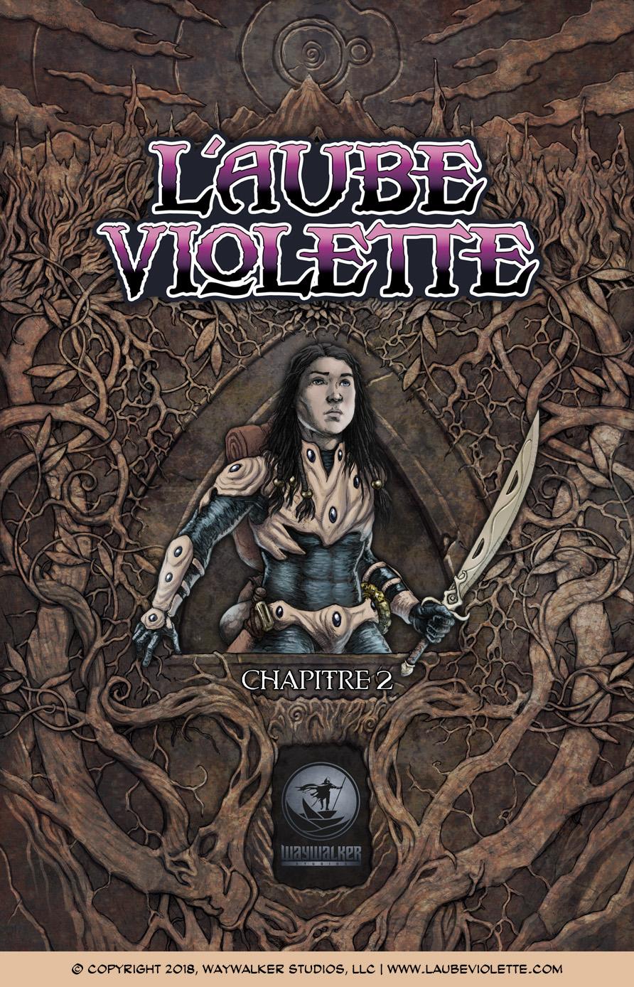 L'Aube Violette L'Exil: Couverture du Tome 2