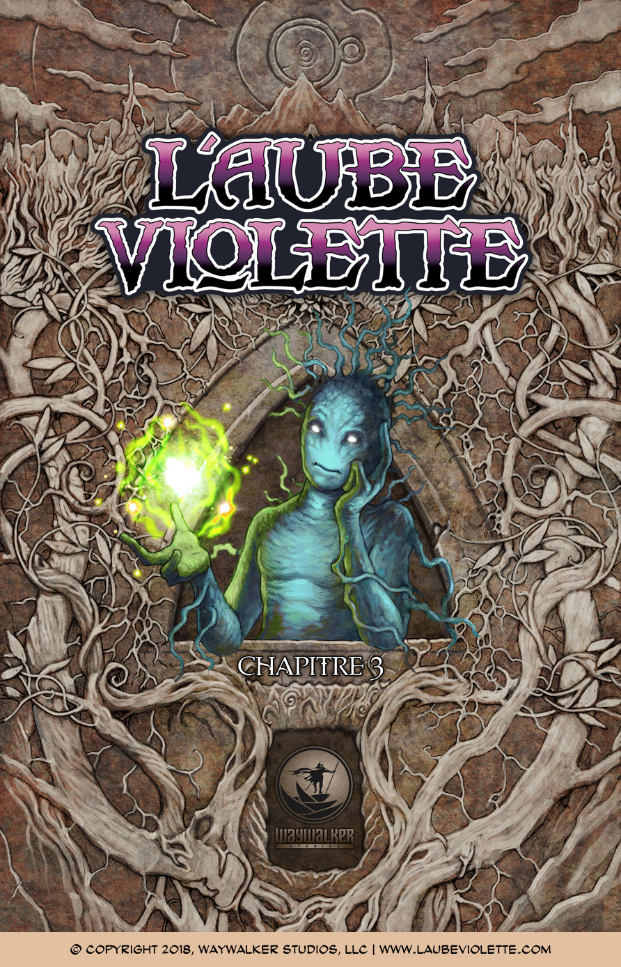 L'Aube Violette L'Exil: Couverture du Tome 3