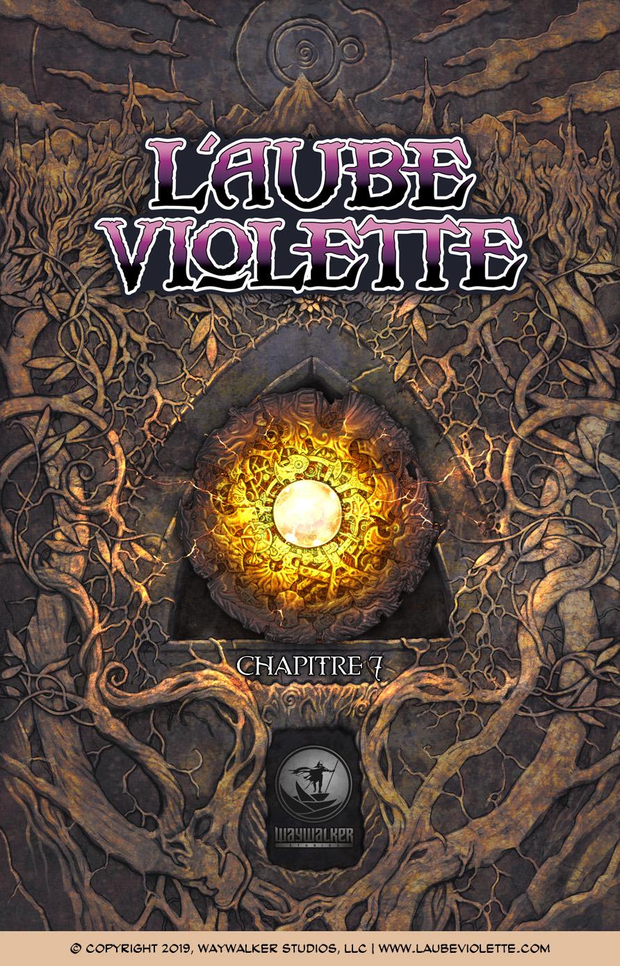 L'Aube Violette L'Exil: Couverture du Tome 7