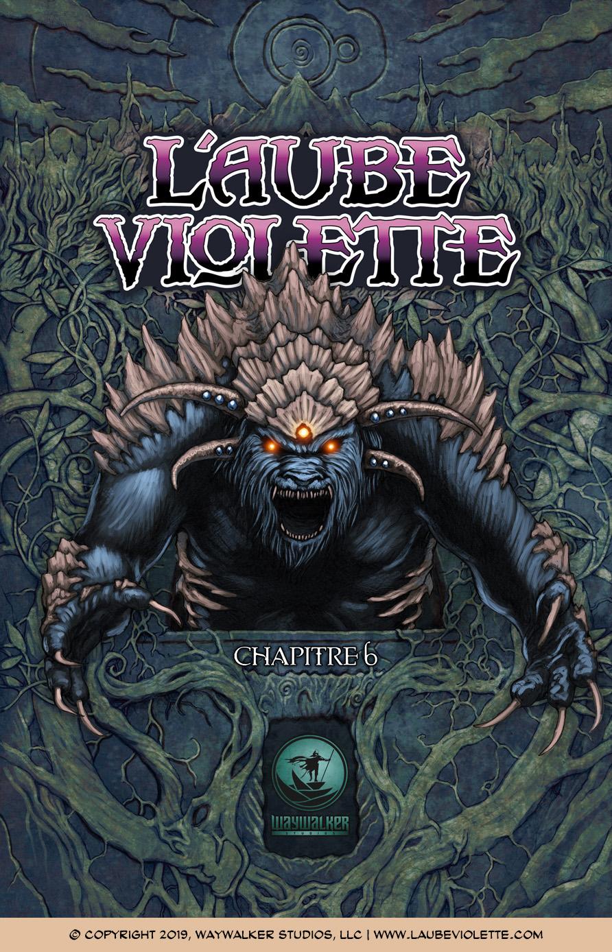 L'Aube Violette L'Exil: Couverture du Tome 6