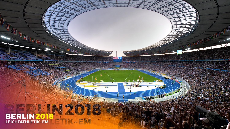 Das Olympiastadion in Berlin ist Schauplatz der Leichtathletik-Europameisterschaften 2018.